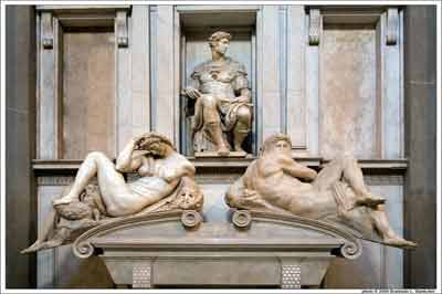 Cappelle Medicee Tomba medicea di Michelangelo - Medici Chappels